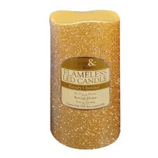 Flameless Glitter LED Candle (Set of 2)