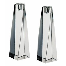 "<strong>Orrefors</strong> Tornado 8.25"" Crystal Candlesticks (Set of 2)"