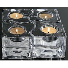 "<strong>Orrefors</strong> 3.37"" Puzzle Votive (Set of 4)"
