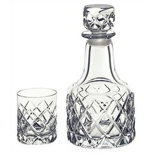 <strong>Orrefors</strong> Sofiero Decanter with 2 Glasses