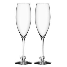 Crazy Heart Flute Glass (Set of 2)