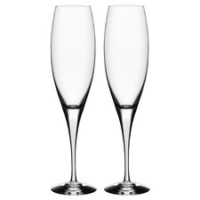 Intermezzo Satin Flute Glass (Set of 2)