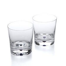 Intermezzo Blue 13 oz. Double Old Fashioned Glass (Set of 2)