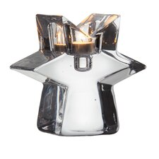 Glimmer Clear Star Candlestick