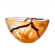 Contrast Small Orange Bowl