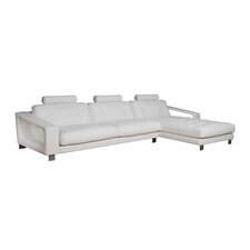 <strong>Eurosace</strong> Luxury Evany Sectional - Top Grain Italian Leather