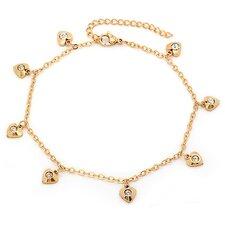 Heart Charm Anklet Bracelet