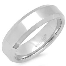 Stainless Steel Inward Band Ring