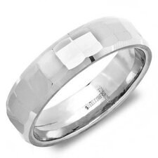 Stainless Steel Texture Slim Band Ring