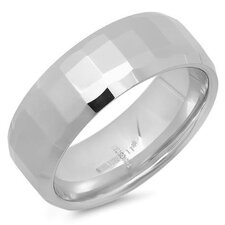 Stainless Steel Texture Band Ring