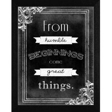 Humble Beginnings Wall Art