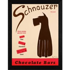 Schnauzer Bars Framed Graphic Art