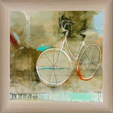 Cozy Bike Framed Painting Print