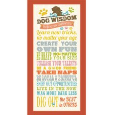 Dog Wisdom - Life Framed Textual Art