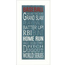 Baseball Framed Textual Art