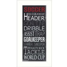 Soccer Framed Textual Art