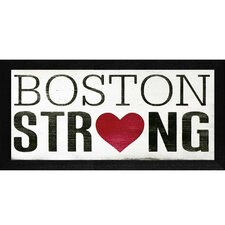 Boston Strong Framed Textual Art