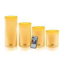 Himalayan Glow 4 Piece Pillar Candle Set