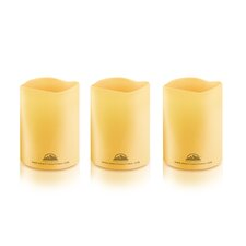 Himalayan Glow Pillar/Flameless Candles (Set of 3)
