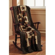 <strong>IHF Home Decor</strong> Cambridge Star Cotton Quilted Throw