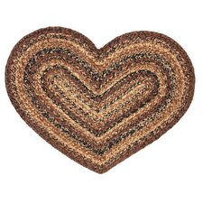 <strong>IHF Home Decor</strong> Cappuccino Heart Rug