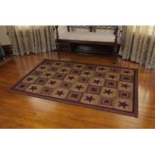 Country Star Wine Rug