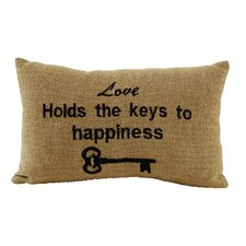 <strong>IHF Home Decor</strong> Burlap Star Check Key Accessory Pillow