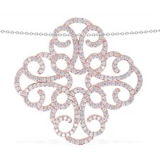 Fashion Forward Silver Cubic Zirconia Necklace