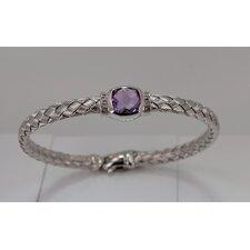 Mesh Gemstone Bangle Bracelet
