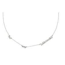 <strong>Shame on Jane</strong> Sterling Silver Triple Layering Necklace