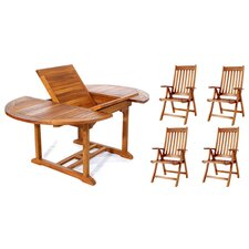 5 Piece Butterfly Dining Set