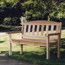 <strong>All Things Cedar</strong> Hardwood Doweling Garden Bench