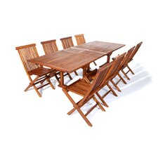 9 Piece Butterfly Dining Set