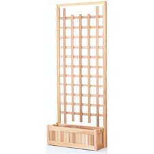 2 Piece Planter with Trellis Screen