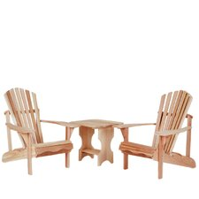<strong>All Things Cedar</strong> 3 Piece Adirondack Seating Group