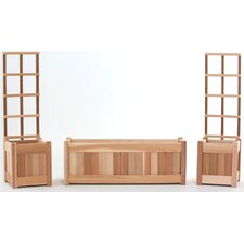 5 Piece Planter Set with Trellis