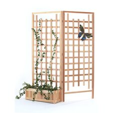 <strong>All Things Cedar</strong> 3 Piece Planter Set with Trellis Screen