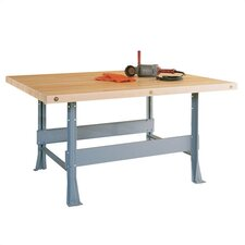 Four Station Workbench with Steel Legs