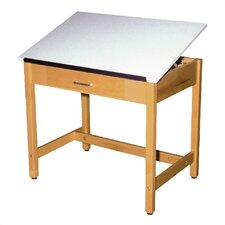 Fiberesin Drafting Table with Drawer