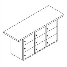Horizontal Locker Unit Workbench