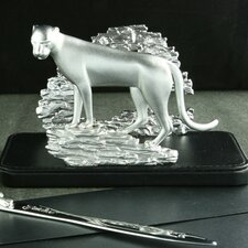 Desktop Cheetah Letter Holder