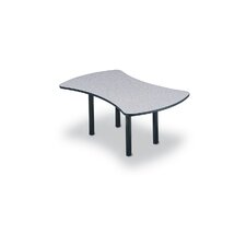 "<strong>ABCO</strong> 96"" Wide Break Out Top Conference Table with Slab Base"