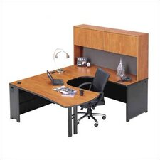 <strong>ABCO</strong> Endure U-Shape Left Configuration Executive Workstation with Hutch