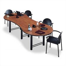 "<strong>ABCO</strong> 144"" Wide Break Out Top Conference Table with H Base"
