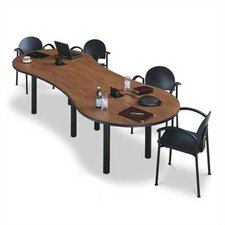"120"" Wide Break Out Top Conference Table with Designer Base"