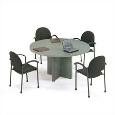 "<strong>ABCO</strong> 42"" Diameter T-Mold Round Top Gathering Table with X-Base"