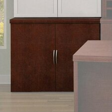 Unity Executive Series Wood Floating Double-Door Storage Cabinets