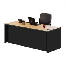 Unity Double Pedestal Desk Shell with Modesty Panel