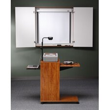 Mobile Presentation Stand with Optional Wall Cabinet and Projector Screen