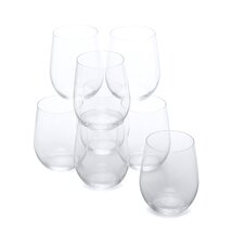 "<strong>Riedel</strong> Pay 6 Get 8 ""O"" Chardonnay White Wine Glass Set"